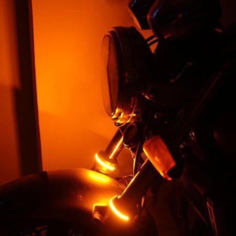 Fita LED pisca / presença para montar em braço de suspensão Cafe Racer