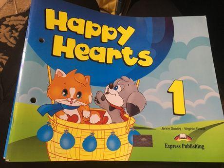 Happy hearts книга и тетрадь