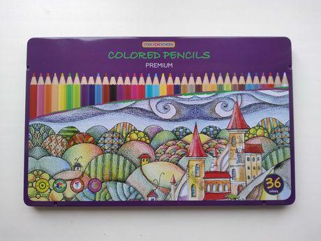 Цветные карандаши Cool for school Premium шестигранные 36 цветов