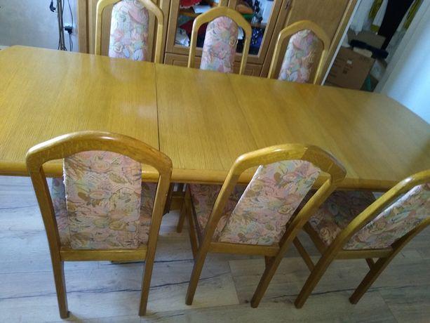 Stół dębowy rozkładany Producent Swarzędzka Fabryka Mebli
