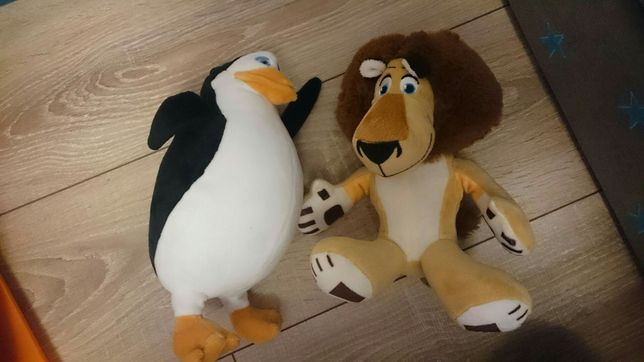 Madagaskar lew alex ,pingwin z madagaskaru nowe pluszaki