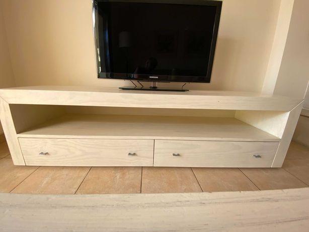 Móvel para Televisão em madeira bege