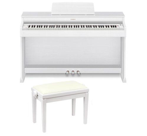Casio AP 470 WE biały mat pianino cyfrowe + ława Discacciati KD 20