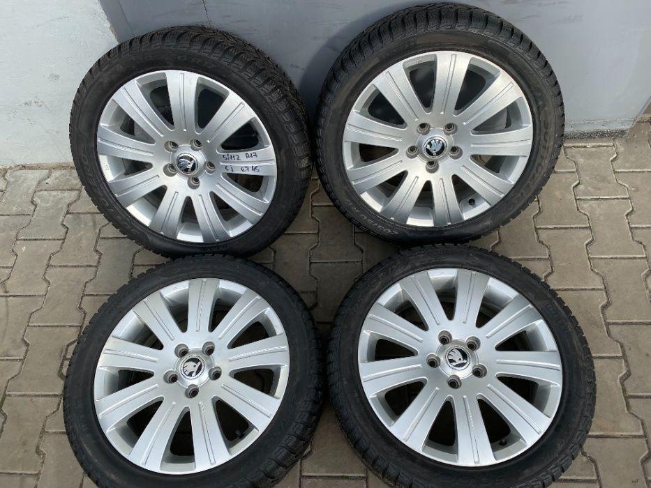 Диски Skoda Octavia Superb 5/112 R17 6J ET45 + 205/50R17 зима Pirelli