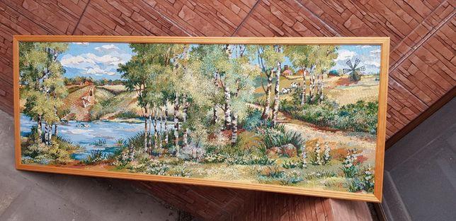 Гобелен Природа в деревянной рамке