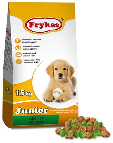 Frykas Junior z Drobiem 15KG karma dla psa