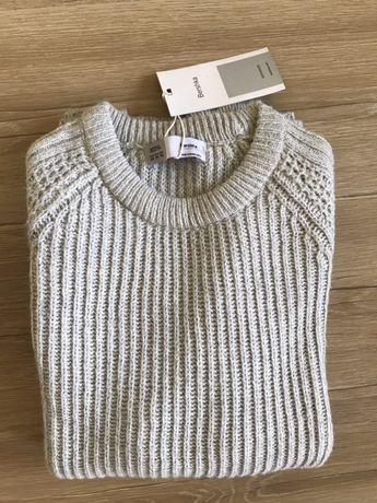 Nowy szary sweter męski Bershka XS/S zima Święta prezent
