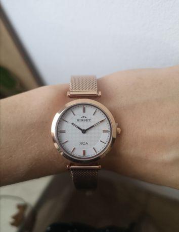 NOWY!! piękny damski zegarek Bisset Noa V bransoletka rose gold różow