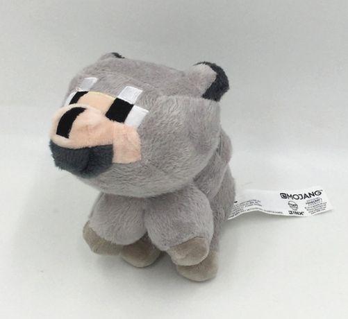 """Мягкая игрушка """"Волк"""" темно серый из игры Майнкрафт 23см (Wolf) вовк"""