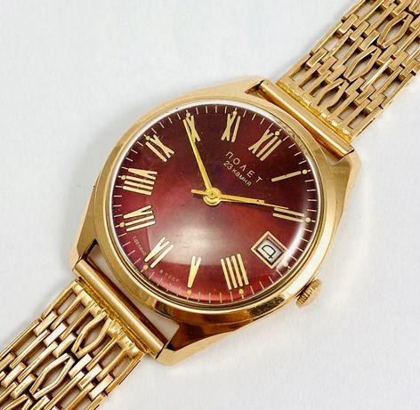 Zegarek złoty Poliot 23 kamienie Męski na bransolecie