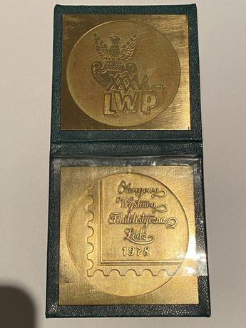 Medal, Klipa- Wystawa Filatelistyczna Łódź 1978
