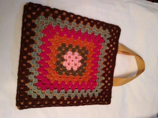 Bolsa/ Saco/ sacola artesanal de lã