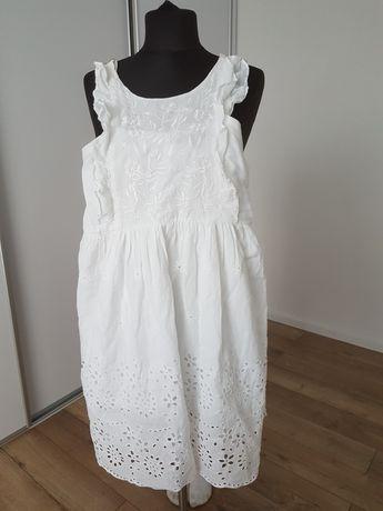 Sukienka biała haft rozmiar m