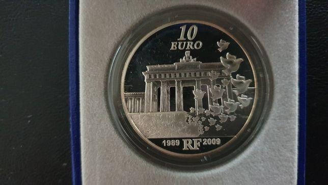 1France - Magnifique 10 Euros 2009 en Argent BE - 20 ans Chute du Mur