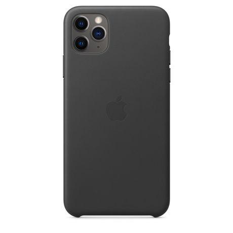 Capa Apple iPhone 11 Pro Max Preta em Pele Original e Selada
