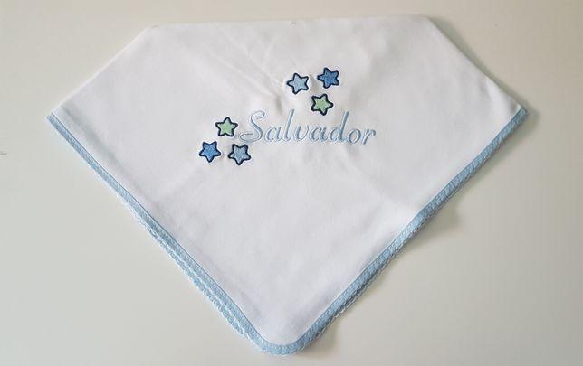 Fraldas pano 100% algodão bordadas bebé