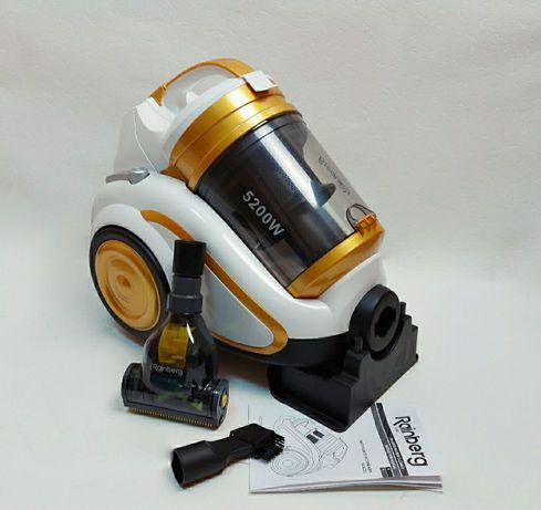 Пылесос 5200W мощность, 5 литров колба + турбо щетка Rainberg