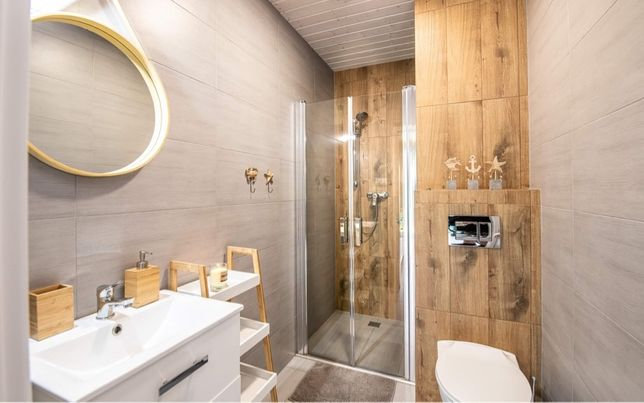Drzwi prysznicowe Beloya uchylne podwójne 80cm chrom