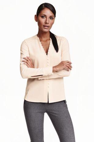Шикарная блузка премиум коллекции h&m пудрового цвета блуза