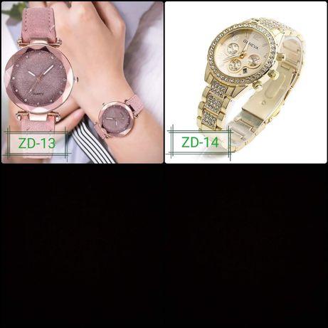 Zegarek damski na fioletowym zamszowym pasku lub złotej bransolecie