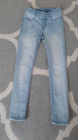 Leginsy jeansowe rozmiar 122