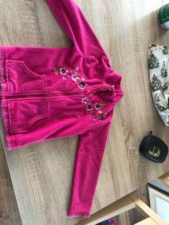 Bluza bez kaptura dziecięca dziewczęca rozmiar 116