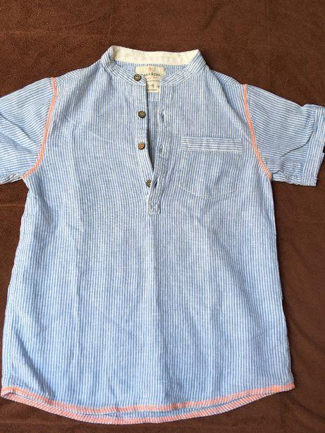 Lniana koszula elegancka ZARA 7-9 lat
