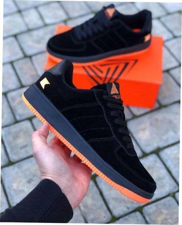 Мужские замшевые кроссовки черные