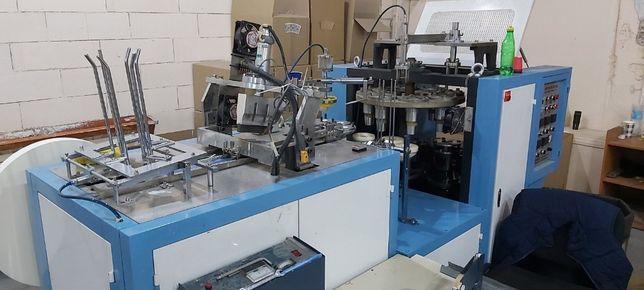 оборудование станок для бумажных стаканов и тарелок