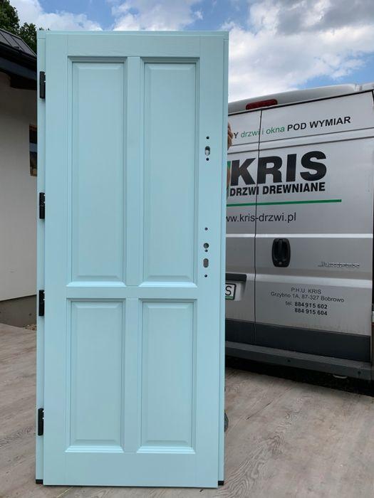 Drzwi zewnętrzne angielskie dębowe 7,5cm antywłamaniowe