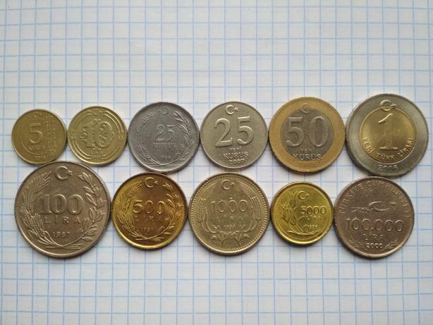 Монеты  Турции .