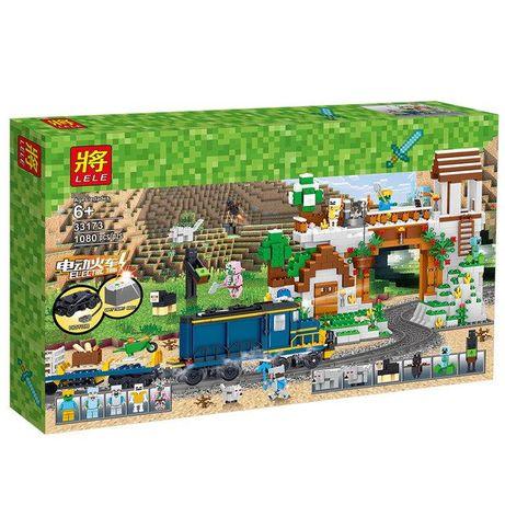 Конструктор Майнкрафт Minecraft Железная дорога с мотором 1080 дет