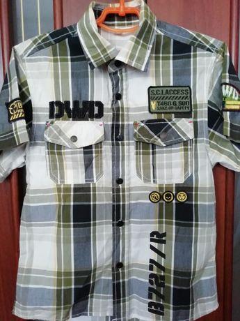 Рубашка на мальчика 9-10 лет, на рост 122-128 см (100% cotton)