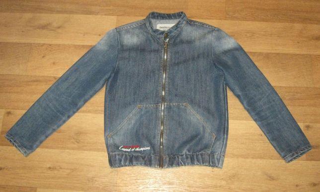 Джинсовый пиджак на школьника 8+