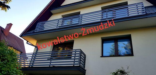Tarasy nowoczesne balustrady ogrodzenia palisadowe krata okienna