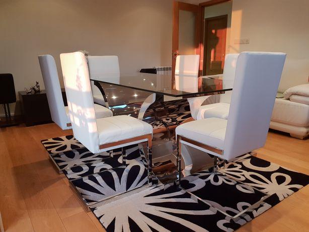 Mesa jantar inox