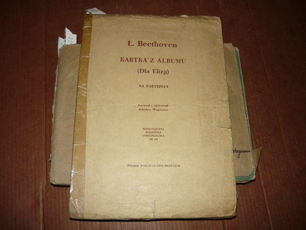 Beethoven Kartka z albumu [ Dla Elizy ]