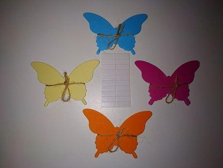 20 шт декор на стены и окна бумажные бабочки на двустороннем скотче