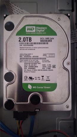 Жесткий диск HDD Western Digital 2TB 5400rpm 64МB WD20EARX 3.5 SATA