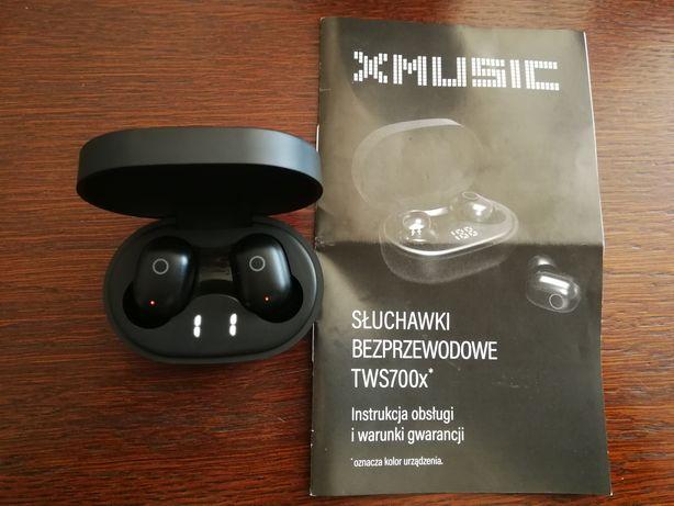 Słuchawki XMusic TWS700K dokanałowe jak nowe