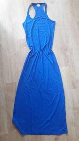 Sukienka letnia długą chabrowa M