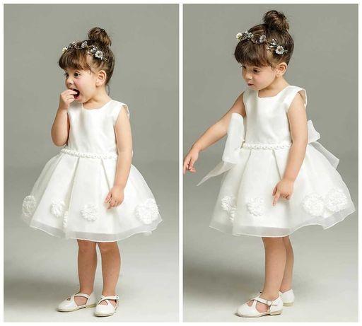 Sukienka na chrzest bez rękawków rozmiar 74 - 104