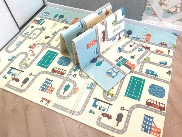 Коврик термо складной двусторонний детский игровой 2х1,5 м х 6мм