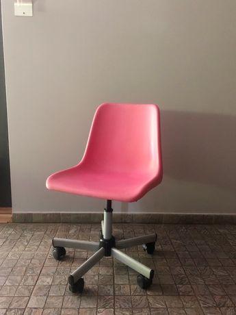 Krzesło obrotowe fotel biurowy dziecięcy różowy IKEA