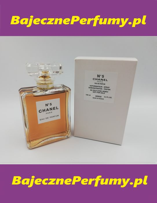 Perfumy CHANEL No5 100ml tester hit okazja WYSYŁKA vdswwddf Białystok - image 1