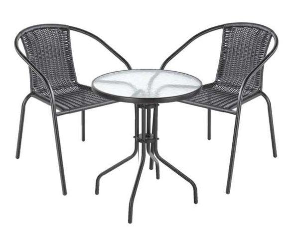 Zestaw 1x stolik + 2x krzesła Na Balkon Taras Ogród + Wazonik