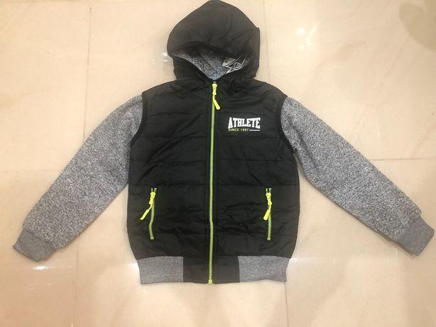 Куртка для хлопчика з трикотажним рукавом