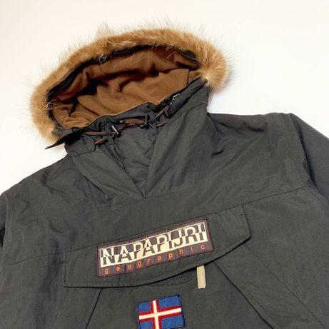 Куртка анорак пуховик napapijri winter/the north face/fjallraven