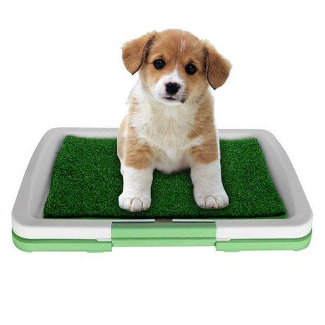 Pojemna trwała kuweta dla psa sztuczna trawa 47 x 34cm
