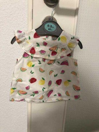 Платье для девочки / на девочку фрукты 62 см